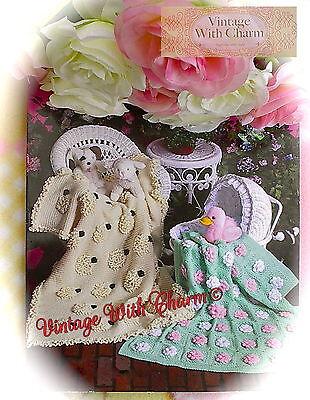 (Crochet Pattern Baby's Baa Baa Blankie & Baby's Garden Blankets £2.49 + FREE P&P)