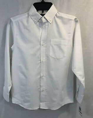 Nautica NWT Youth 12 Regular White Long Sleeve Oxford Shirt..D14