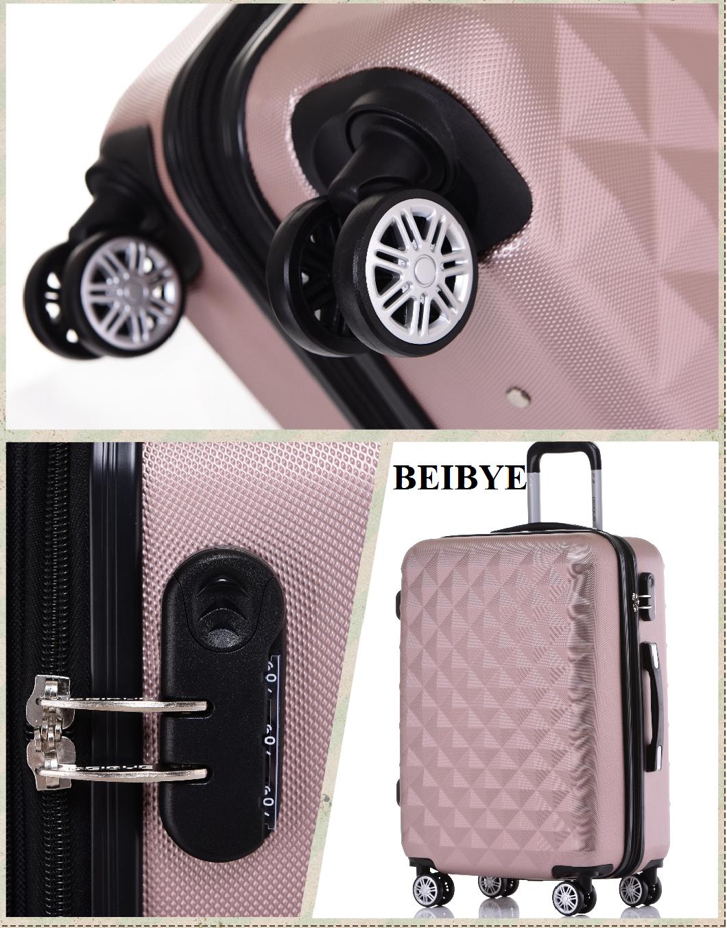 BeiBye Kofferset 2066 Hartschale