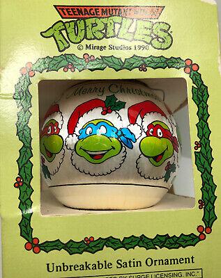 """1990 Teenage Mutant Ninja Turtles Christmas Ornament Satin Merry Chtistmas 3""""D ()"""