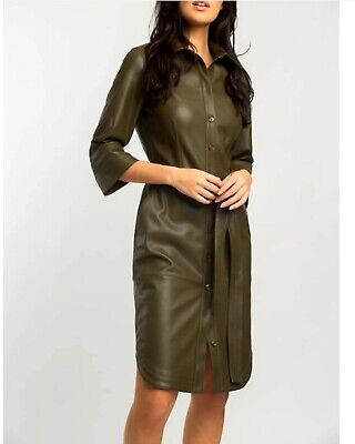 Alba Conde Leather effect Dress Size 10 RRP £250