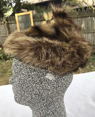Baby Coon Skin Hat (VTG Coonskin Dan'L Boone Real Fur Cap Hat Child Kid Costume Western Raccoon)