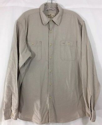 - American Living Mens Light Brown/Tan Flannel Shirt Button Up Size XL
