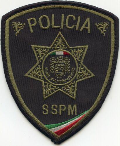TIJUANA MEXICO Green Black SSPM POLICIA POLICE PATCH