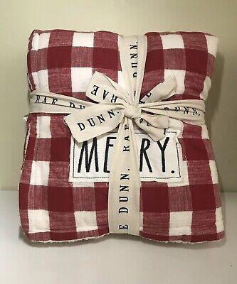 RAE DUNN Christmas Merry BUFFALO CHECK SHERPA THROW BLANKET Christmas Excl