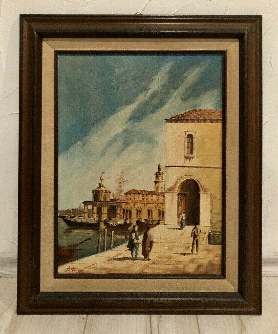 """Italienisches""""Venedig""""Ölgemälde,""""Fattorusso""""mit Zertifikat"""