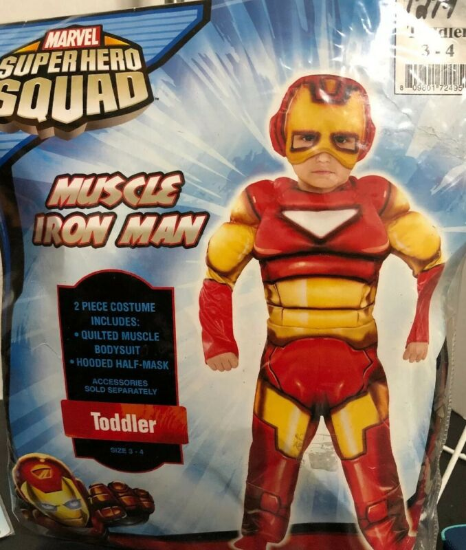 Marvel Super Hero Squad Muscle Iron Man Toddler (3-4) Child