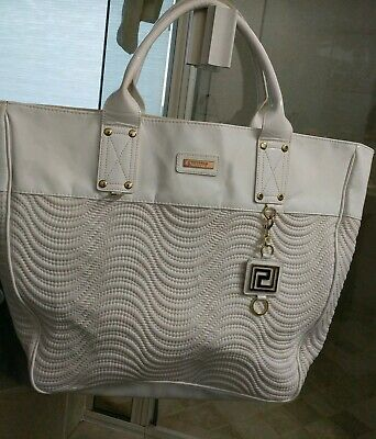 Large Versace White Bag With Key Chain