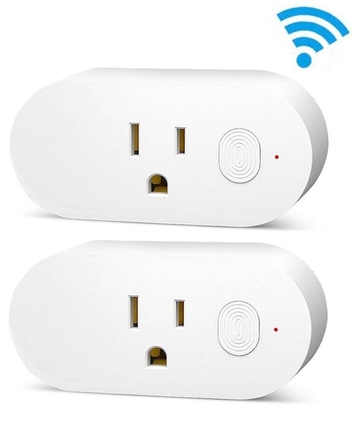 Wifi Smart Plug Mini Multi-function Outlet Work with Amazon Alexa and Google X2