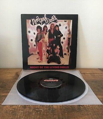NEW YORK DOLLS NIGHT OF THE LIVING DOLLS VINYL LP EX+ 1985 826 094-1 MERCURY