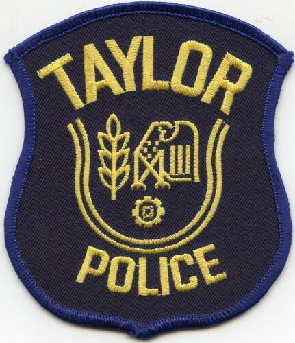 TAYLOR MICHIGAN MI POLICE PATCH