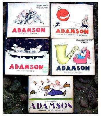 O. Jacobsson ADAMSON 5 alte Bücher aus den 20er