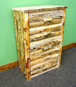 Rustic Log Dresser 5 Drawers - $799 - Dovetail Drawers - Free Shipping