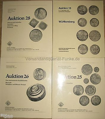 Ringberg Galerie des Monnaies Düsseldorf   4 Auktionskataloge Münzen 1975 1983