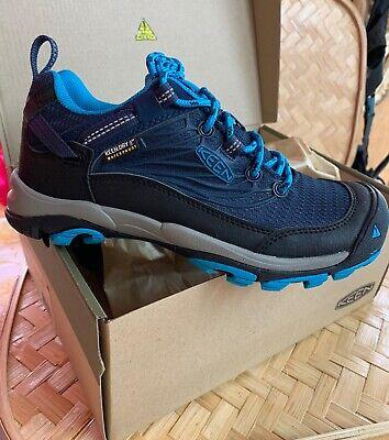 Keen Saltzman Waterproof Hiking Shoes Women Size 5 Black Blues New! Camp...