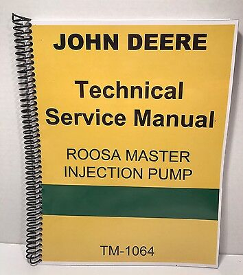Roosa Master Fuel Injection Pump Manual John Deere Technical Service Wtests