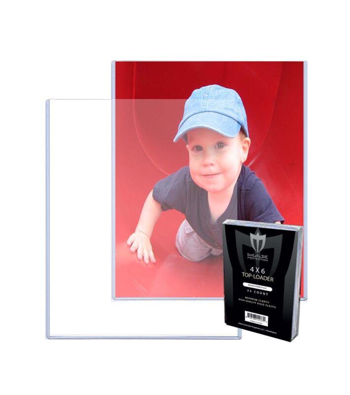 Pack / 25 Max Pro 4 x 6 Postcard Photo Rigid Hard Topload Toploaders Holders 4x6