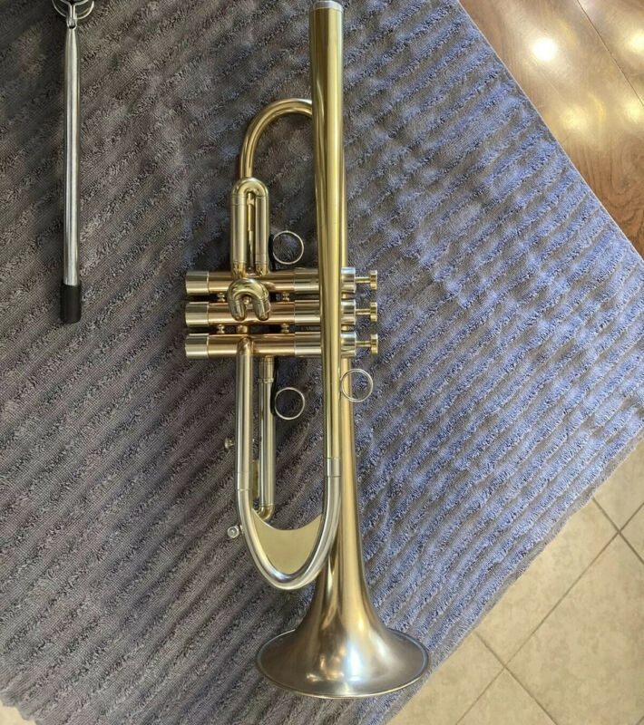 adams a8 selected Bb professional trumpet used great condition custom large bore