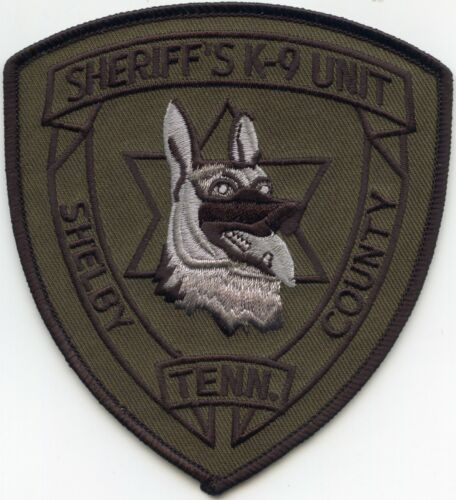 SHELBY COUNTY TENNESSEE TN Subdued Green K-9 SHERIFF POLICE PATCH