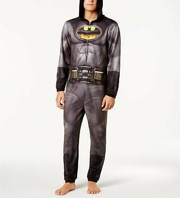 Batman XL Schlafanzüge Nachtwäsche DAMEN HERREN Unisex Superheld Reißverschluss