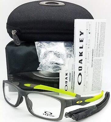 NEW Oakley Crosslink MNP RX Asian Fit Frame Satin Grey Smoke OX8141-0256 56 (Asian Fit Aviators)
