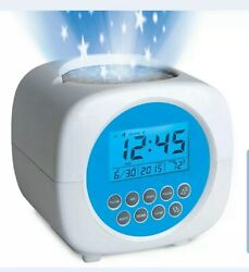 Discovery Projection Alarm Clock Sound Machine With Stars & Nature Sounds NEW