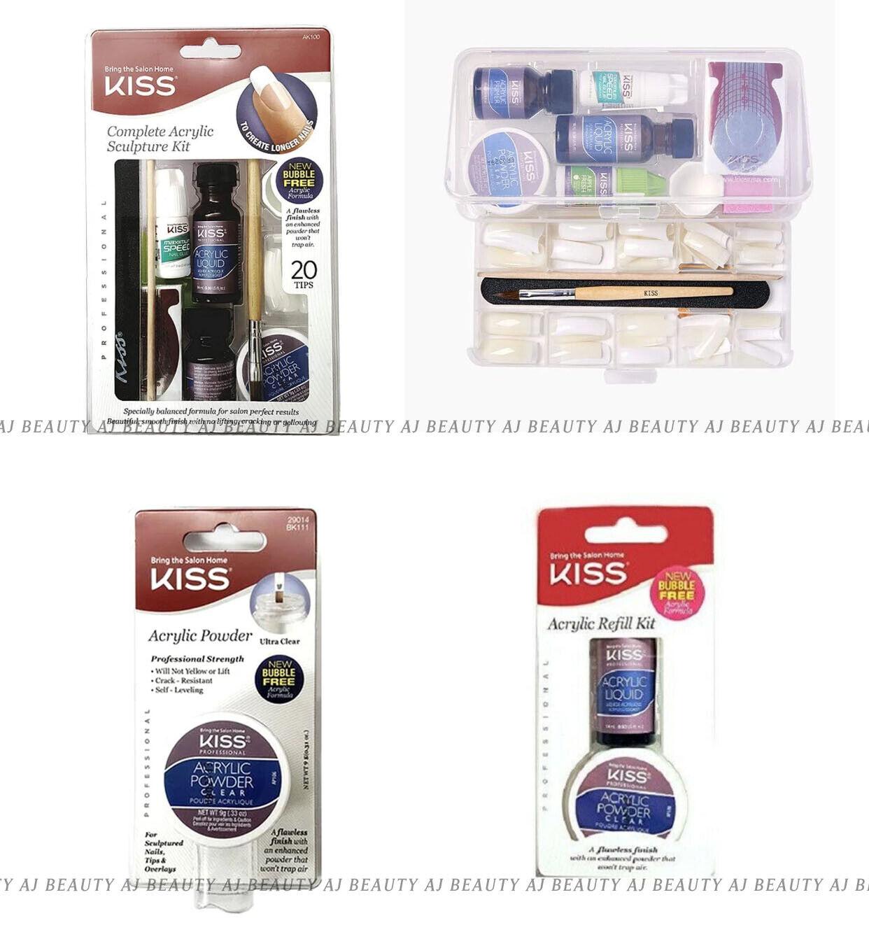 Kiss Complete Acrylic Sculpture Kit AK100 / Refill Kit AK300