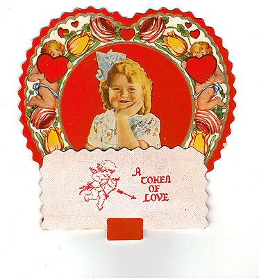 Vintage Valentines Day Card - Big Red Heart w/ Girl](Big Valentines Day Cards)