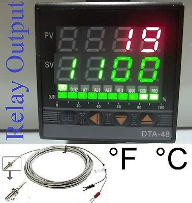 Professional Pid Temperature Controller Oven Kiln Fc Fahrenheit Relay Out Tc