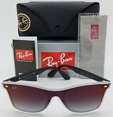 NEW Rayban Blaze Wayfarer sunglasses RB4440NF 6355/UO Black Red Mirror Gradient (Red Wayfarer Sunglasses)