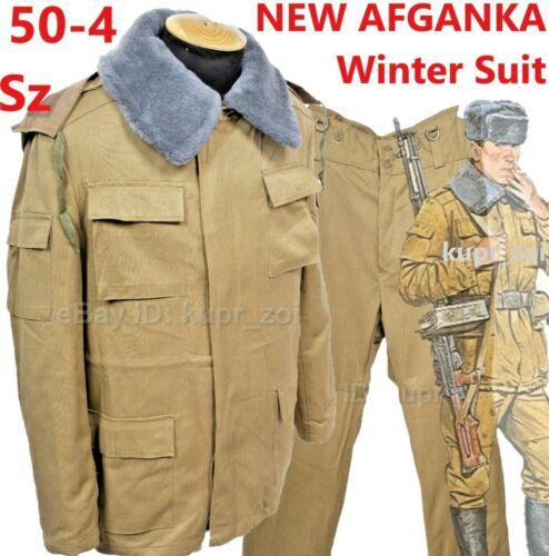 NEW Size 50 -4 COTTON AFGANKA Winter suit Field SOVIET Army Afgan War Sand Camo