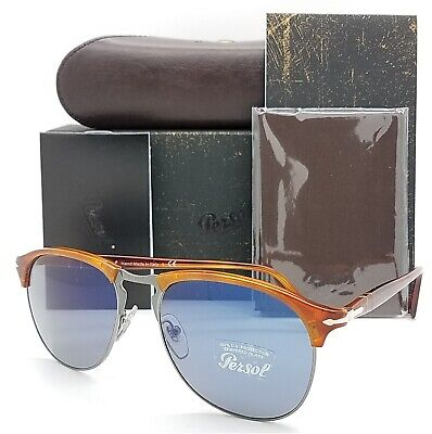 NEW Persol sunglasses PO8649S 96/56 56mm Havana Brown Blue AUTHENTIC PO8649 (Persol Sunglasses Havana)