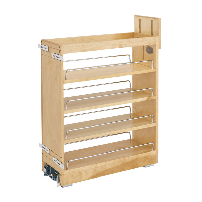 Rev-A-Shelf 448-BCBBSC-8C 8 Inch Kitchen Pull Out Cabinet Organizer with Shelves