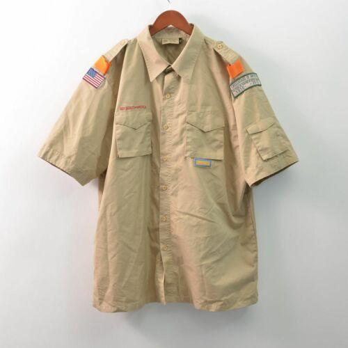 Boy Scouts of America BSA Uniform Shirt Adult Mens XL Patches Flag