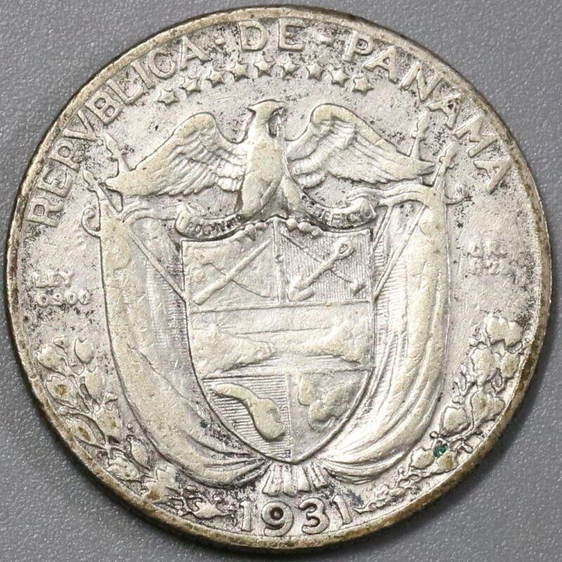 1931 Panama Un Cuarto de Balboa 48,000 Made Rare Key Date Coin (19071706R)