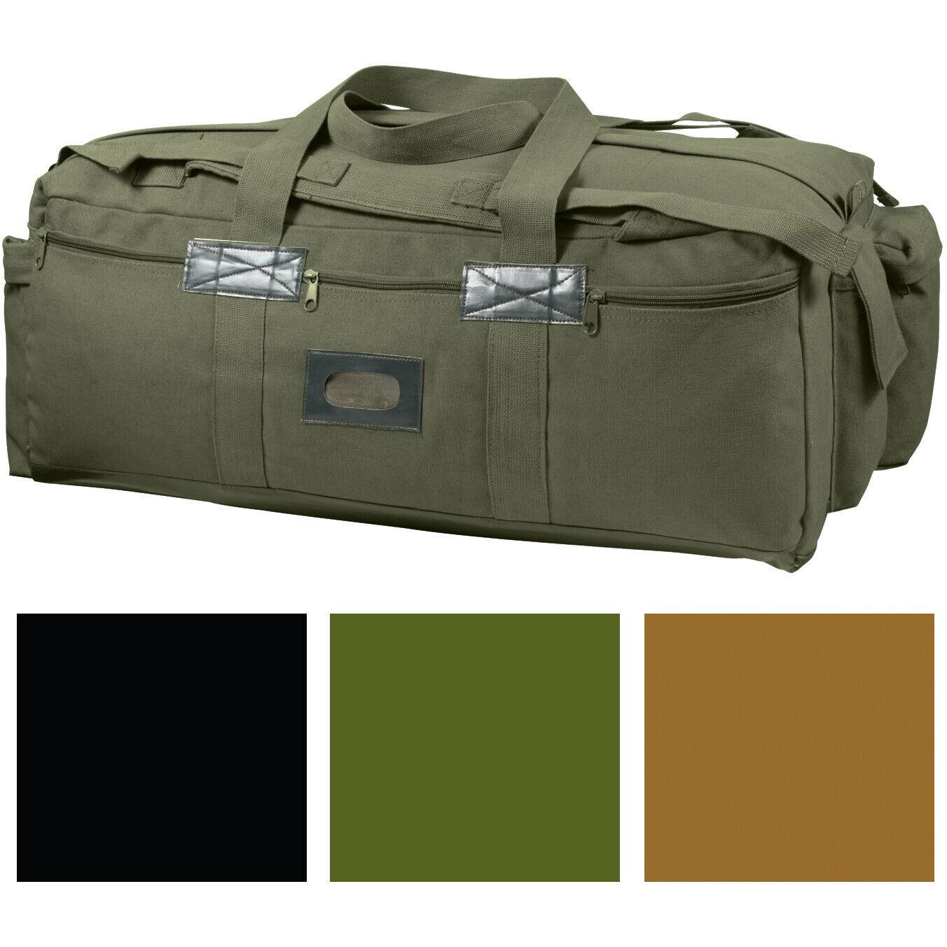 Heavy Duty Cotton Canvas Tactical Duffle Bag Israeli Mossad