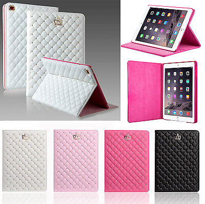 Luxury Crown Leather Smart Case Stand Cover for Apple ipad air 2/ipad 3 4/mini 3