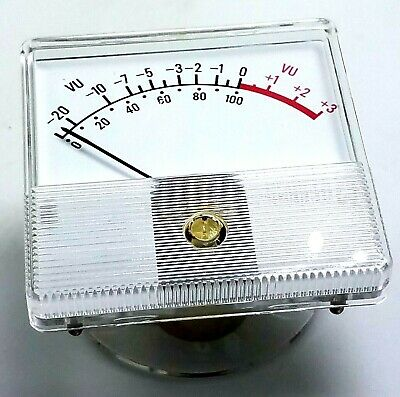 Vintage Honeywell -20 To 3 Vu Signal Level Panel Meter Guage 2 12 X 2 12