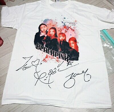 BLACKPINK VIBE Fan event winning gift T-shirt Autographed Signed KPOP KOR SELLER