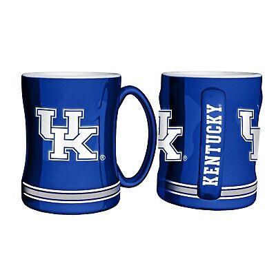 Ncaa Kentucky Wildcats Mugs - NCAA Kentucky Wildcats Coffee Mug 14oz Sculpted Relief Boelter Brands