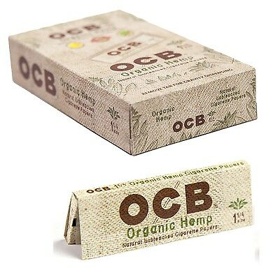 Full Box 24x Packs ( OCB Organic Hemp 1.25 1 1/4 ) Rolling Paper Papers RYO
