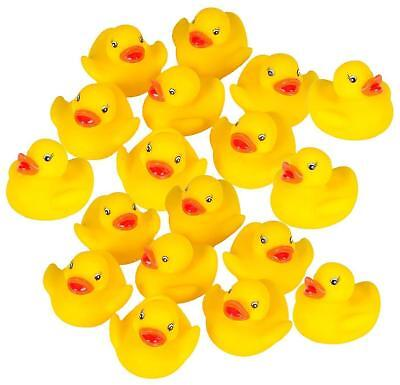 Rubber Duck Baby Bath Toy in a Bucket - 18 Classic Rubber Duckies