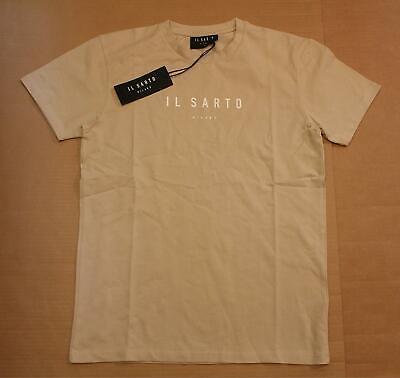 Il Sarto Men's Short Sleeve Slim-Fit Logo T-Shirt MC7 Beige 1606941 Medium NWT
