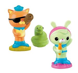 New Fisher Price Octonauts Tweak Kwazi and Slime Eel Squirter Kids Bath Set
