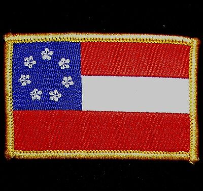 1ST FIRST NATIONAL CONFEDERATE FLAG FULL COLOR TACTICAL IRON ON MORALE -