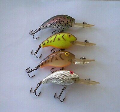 "LOT OF 4 REBEL WEE CRAW FISH STREAM CRAWFISH  2/"" F7660  1//5oz ULTRA LITE LURE"