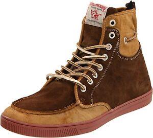 Coach Mens Suede Shoes Brown Lace
