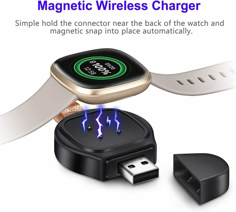 Watch Charger For Fitbit Sense/Versa 3 Magnetic USB Wireless Fast Charging