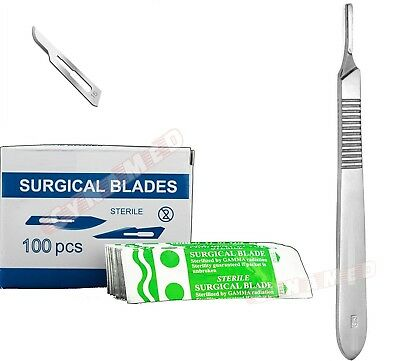 100 Scalpel Blades 15 Handle 3 Suitable For Dermaplaning Surgical Instrument