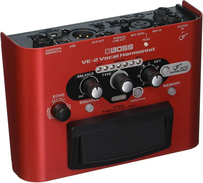 BOSS Vocal Harmonist Effects Processor Stompbox Guitar Pedal - (VE-2)